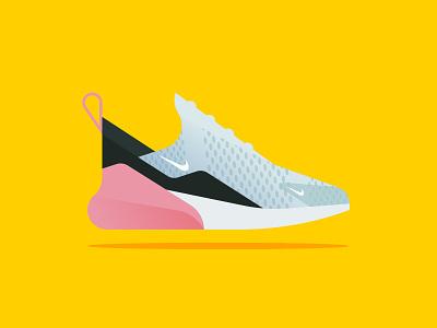 Nike AirMax 270 sport 270 nike minimal sneaker air illustration vector web icon gradient