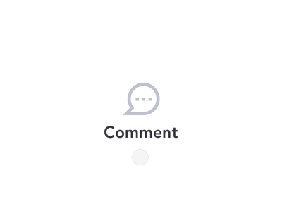 Micro interaction 💬 motion principle design interface ux comment animation ui minimal icon vector