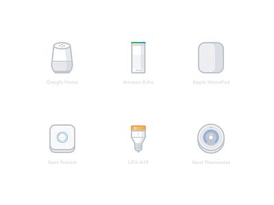Smart Home speaker amazon google web design smart home minimal icon vector illustration