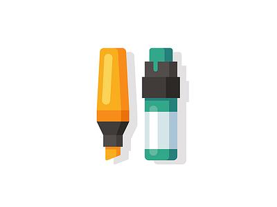 Markers (Office vs. Street) tag office illustration street art marker pen minimal icon vector