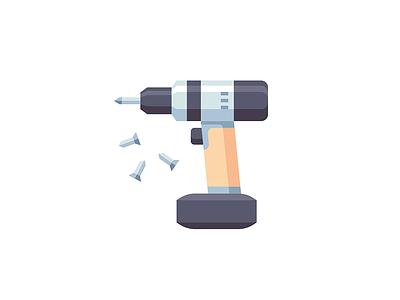 Power Tool build tool machine power tool flat icon vector illustration