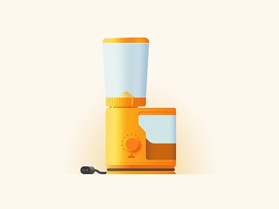 Style Test grinder coffee braun color gradient simple minimal icon vector illustration