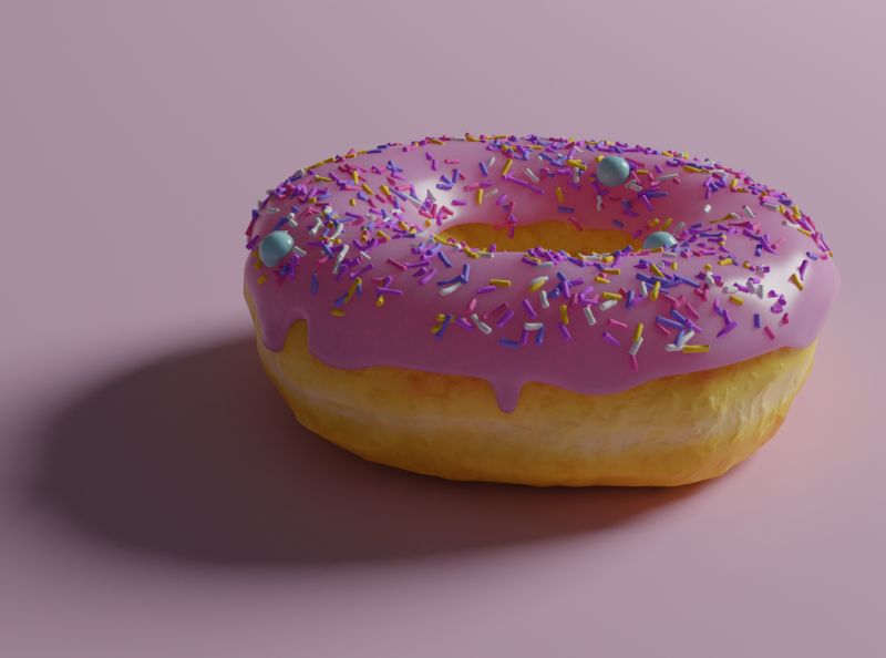 3D Donut web ui blendercycles blender pink design 3d art donut 3d
