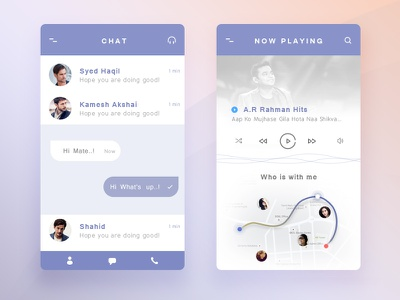 Share my favorite song with friends player music chat interaction icons mobile app ios vector app chennai ui design