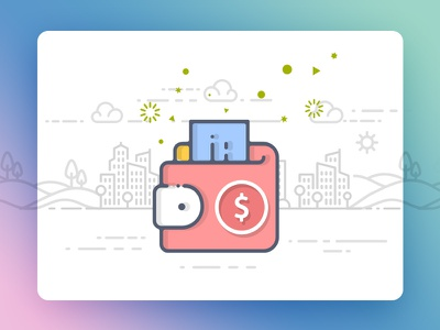 Make money  vector ios mobile app icons interaction illustration