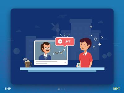 Walkthrough illustration illustration interaction icons mobile app ios vector walkthrough