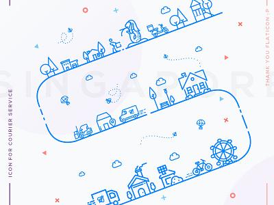 Delivery Application Splash singapore splash vector ios mobile app icons interaction illustration
