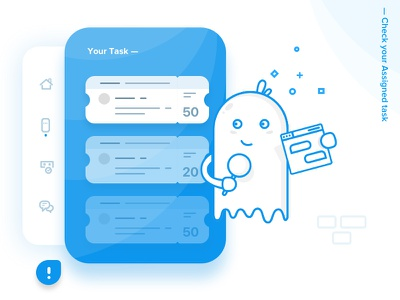 Chat Product - Assigned task design chat walkthrough vector ios chatproduct onboarding icons interaction illustration
