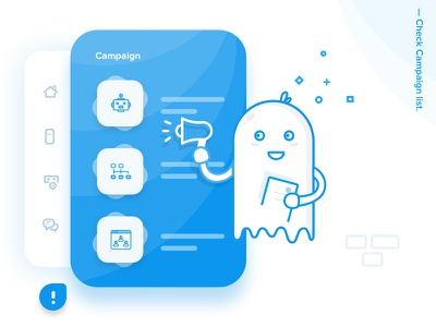 Chat Product - Campaign walkthrough vector character chatproduct design product onboarding icons interaction illustration ghost campaign