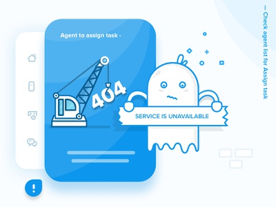 Chat Product - 404 ghost illustration webdesign ux ui character vector flat oops 403 error 404
