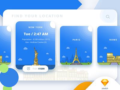 Flight booking app ux ui flight booking illustration interaction icons ios vector rome chennai paris newyork