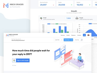 Inbox Grader - Plugin for Gmail report ui ux illustration dashboard graph reports sketch design gmail