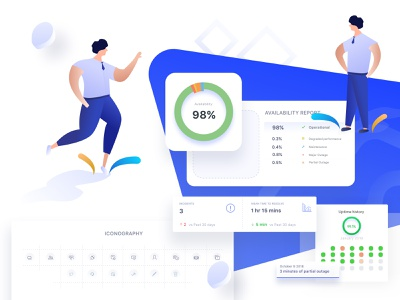 Statuspage in 1-click for FREE app design web  design calendar 2019 report design illustration mobile app ux icons interactions ui  ux design