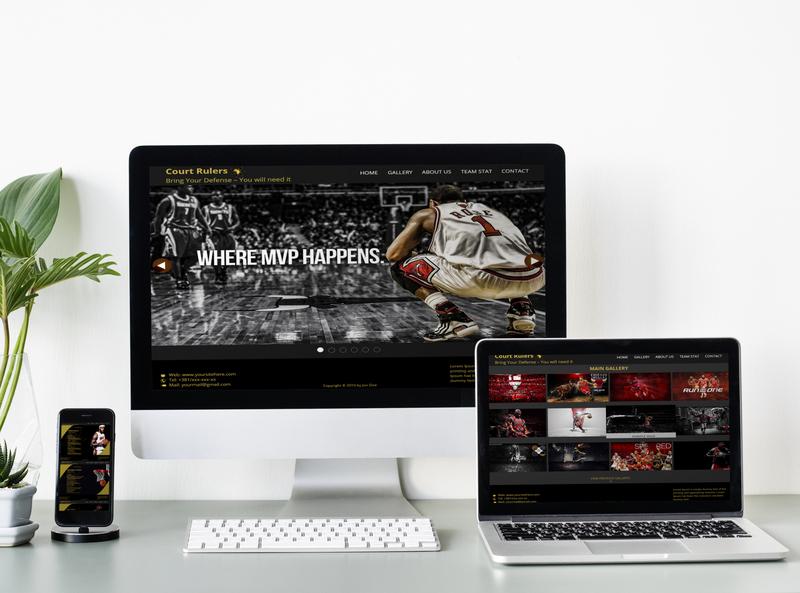 Basketball site design branding ui ux ui design website design web design web