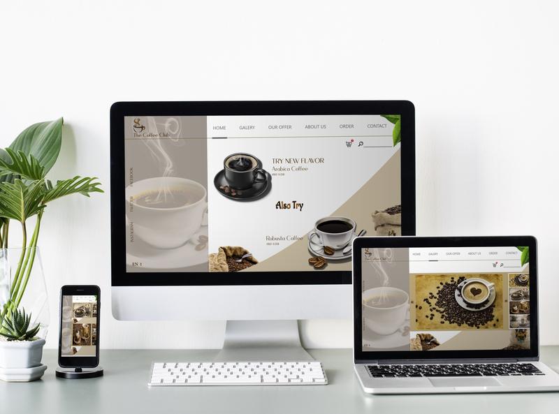 COFFE BAR illustrator minimal app web design brand design branding ux ui web design website