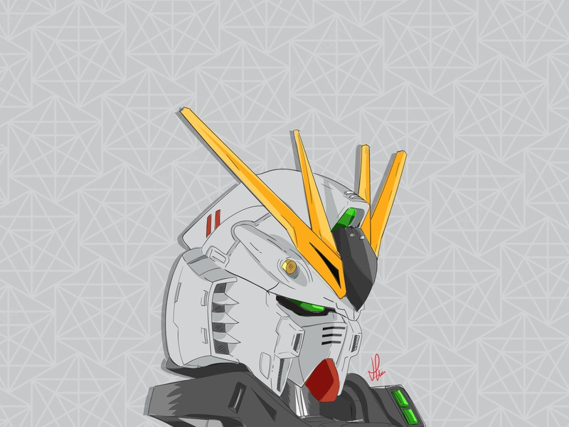 Gundam Illustration gundam design drawing illustration vector cartoon illustration