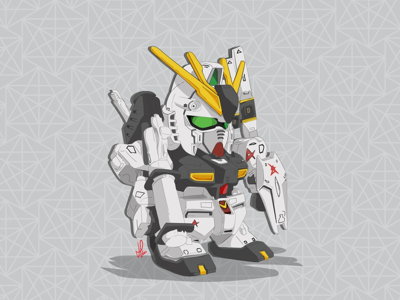 Gundam Chibi Illustration gundam drawing vector design illustration cartoon illustration
