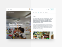 School Website - Layout