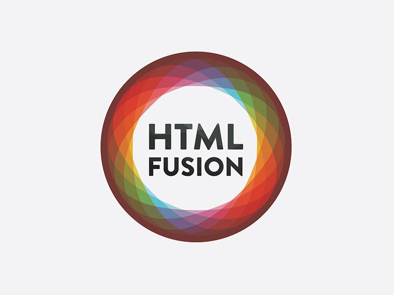 Htmlfusion Logo Reject logo kaleidoscope futura circle colorful fusion html