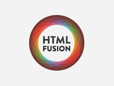 Htmlfusion Logo Reject logo kaleidoscope futura circle colorful fusion html