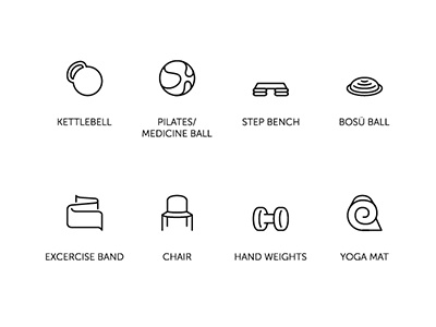 Fitness Icons dumbell yoga mat yoga excercise weights hand weights pilates medecine ball kettlebell bosu icons fitness