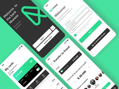 Online banking - Mobile App ux mobile design finance app finance design app online banking mobile app bank mobile minimal design ui app