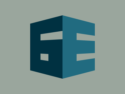 6E Construction e building monogram numeral logo badge construction