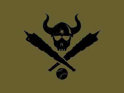 Barbarian Softball apparel sport horns club barbaric barbarian viking athletic baseball softball skull logo