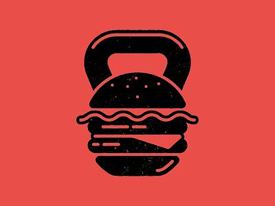 BurgerFit burger tshirt icon fitness crossfit kettlebell