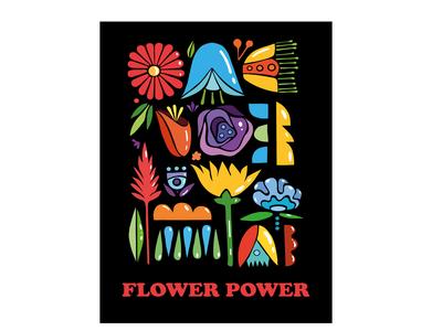 Floral poster cooper black adobe illustrator ornament print summer fresh colors design poster illustration vector flowers illustration floral flowers