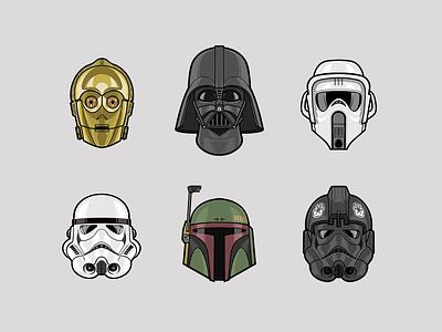 Star Wars Icons data visualization icon ui procreate star wars vector logo web design icons design illustration