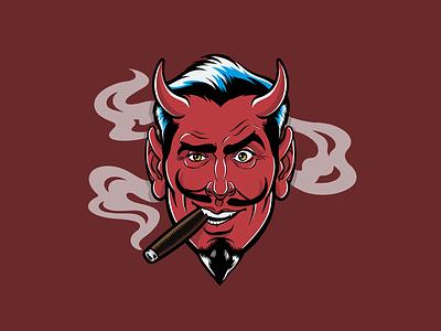 Devil head Icon Illustration in Procreate devil horns devil data visualization design branding illustrator procreate icon icons vector flat illustration