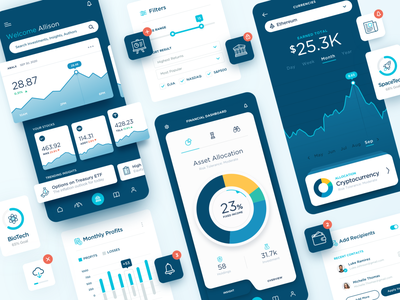 Fintech Financial Investment iOS App UI Design daily ui dataviz infographic ios app website web ux ui mobile icon flat fintech financial app finance app financeapp branding design daily