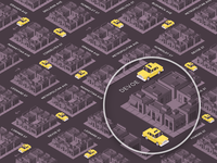 Yelo App Isometric City Illustration