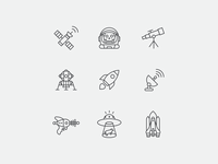 Space Icons Icon Family