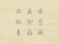 Icon Set Camping Theme