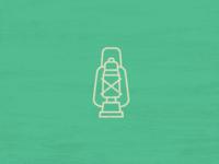Icon Set Camping Theme - Lantern