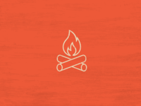 Icon Set Camping Theme - Camp Fire