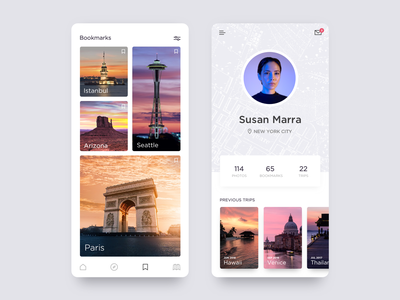 Daily UI 05 - Travel App UI travelling travel app travel design app ui ux icons flat icon mobile minimal identity typography daily ui vector ios clean type branding