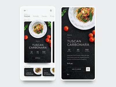 Daily UI 09 - Food App Restaurant Menu data visualization dailyui vector typography type restaurant food branding web web design ios mobile clean flat product design daily ui minimal ux ui app