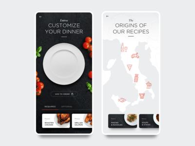 Daily UI 10 - Food App Restaurant Menu