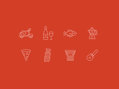 Icons from Food / Restaurant App Concept data visualization illustration icon icons dailyui vector typography type restaurant food branding web design clean flat product design daily ui minimal ux ui app