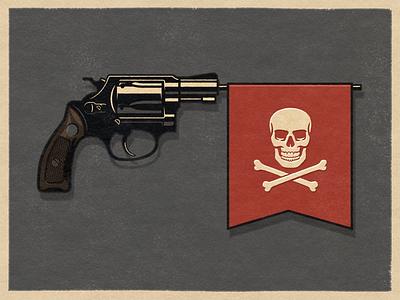 Editorial illustration for gun control web design branding flat texture grunge texture logo icon design icons vector illustration