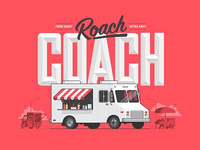 Food Truck Vector Illustration ui typography vector logo illustration icon flat icons branding design