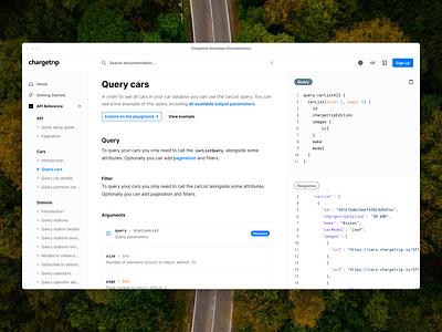 Chargetrip Developer Portal develop explore technical tech queries blog documentation