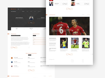 Sportsync information dashboard sports orange