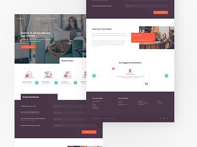 ZedZed Insurance Company colourful sketch modern orange web icons purple insurance