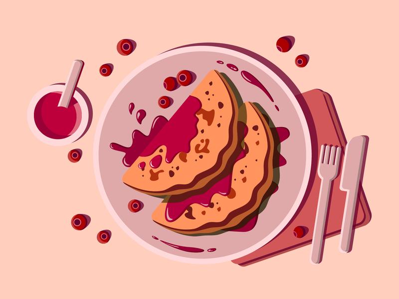 Breakfast vector ui minimal illustration flat art
