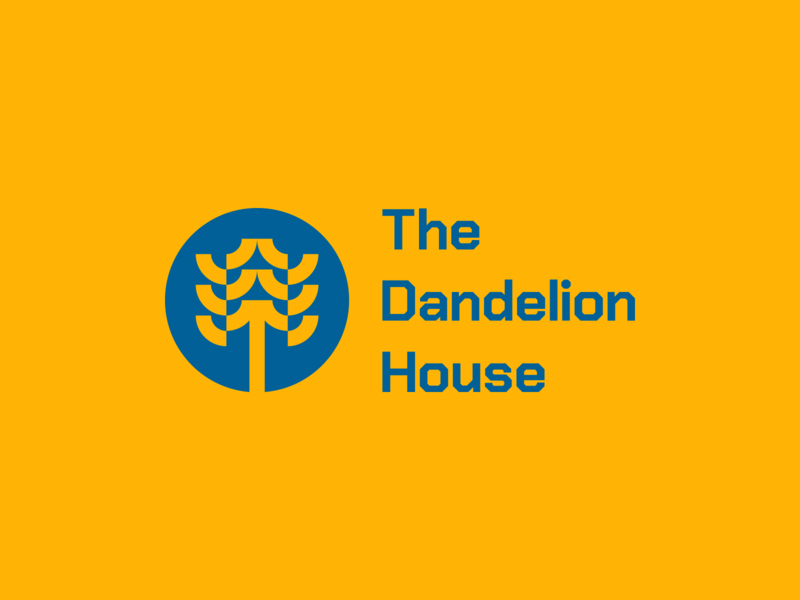 The Dandelion House mark typography vector minimal logo illustrator flat design clean branding