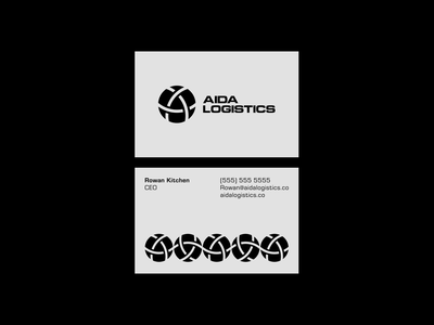 AIDA Logistics business card art graphic pattern contemporary monochromatic graphicdesigner businesscard graphicdesign logomark logotype typography vector minimal flat design mark logo illustrator clean branding